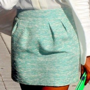 Zara Woman Tweed Style pleated Pockets Mini Skirt
